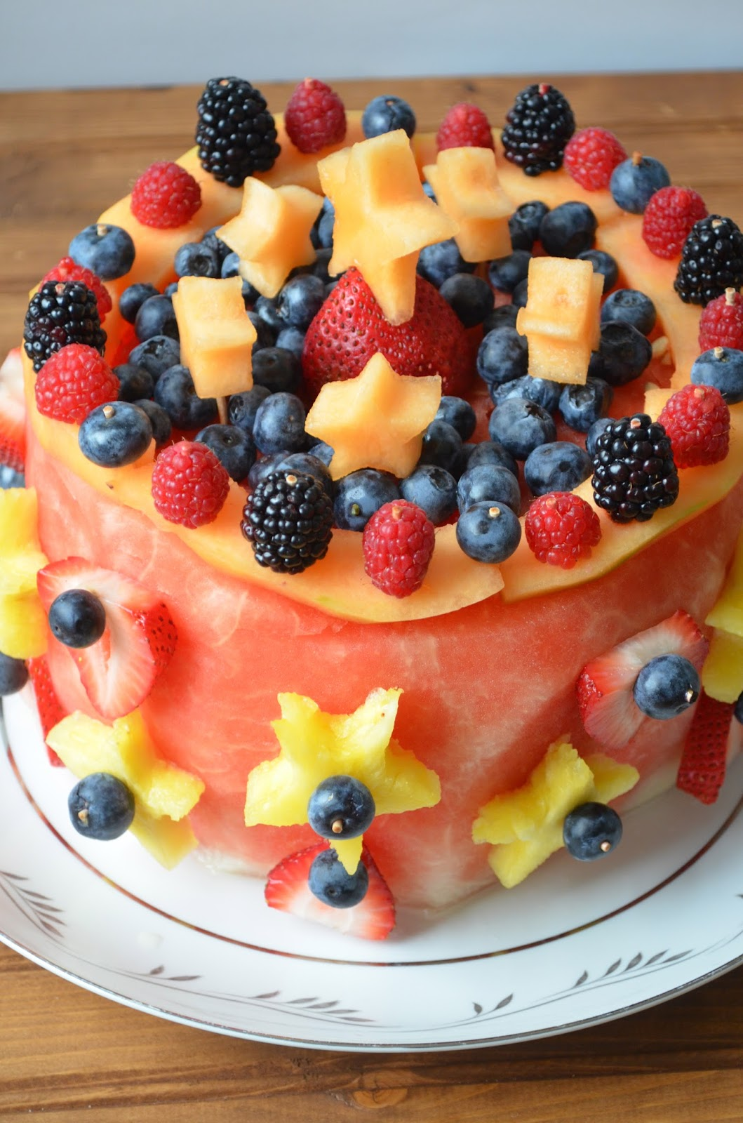 Birthday Cake Decorated With Fruits : The Savvy Kitchen: Raw Fruit Cake