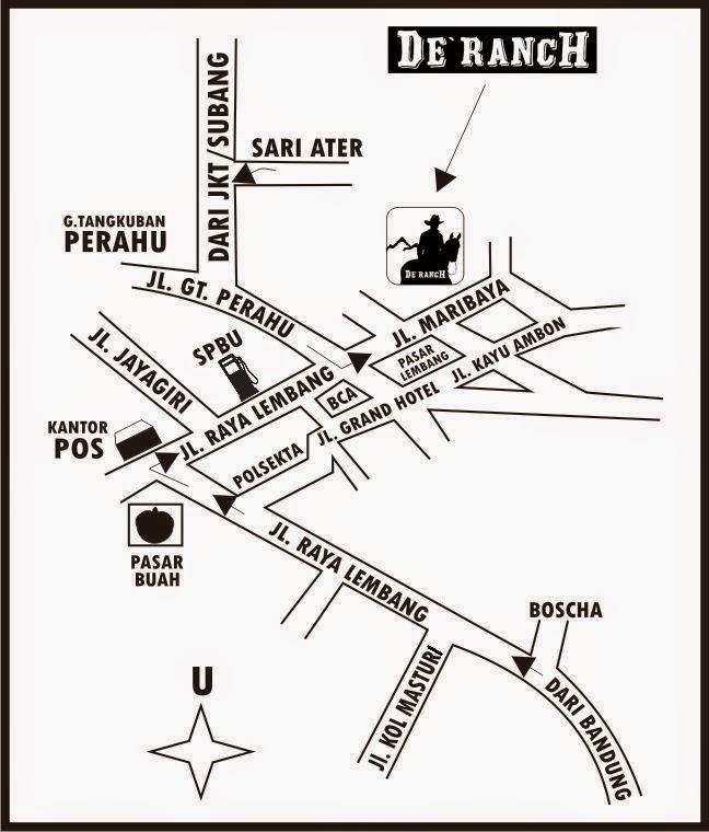 Peta Lokasi De'ranch Lembang