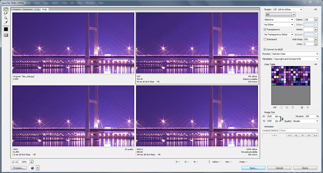 4 up view with GIF Image Format