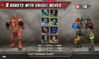 Screenshots of the Real Steel HD for Android tablet, phone.