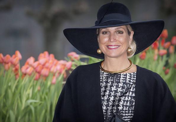 Queen Maxima of The Netherlands attends the award ceremony of the Tuinbouwprijs in flower park Keukenhof in Lisse