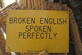 why speak english: