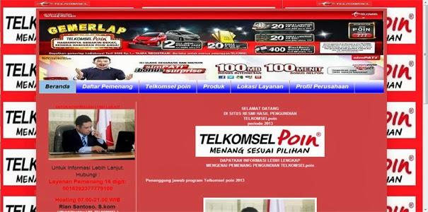 Info Pengundian Telkomsel Poin Hadiah Penipu 100%