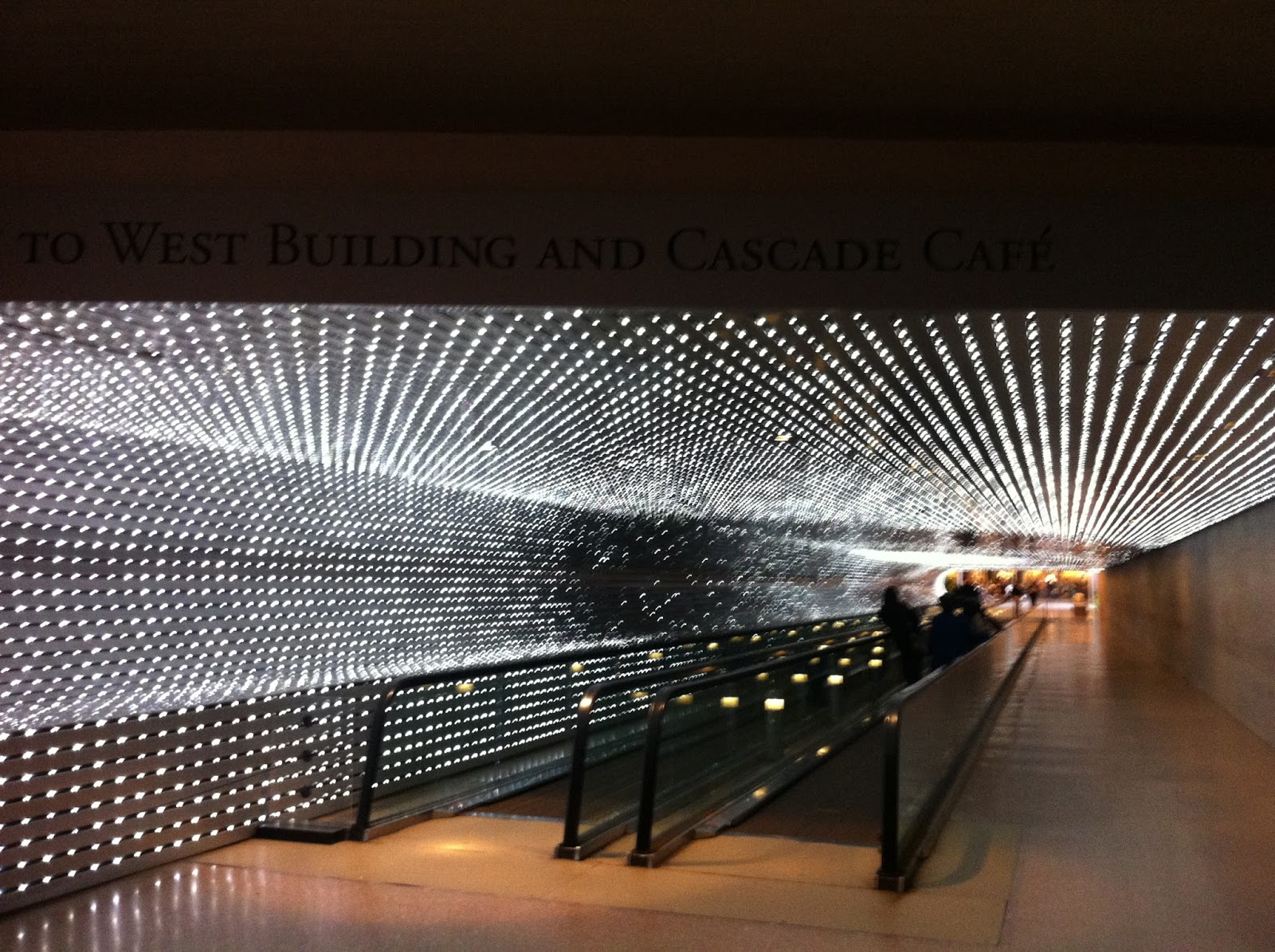 Artpup led lights along the ceiling and one wall of the walkway are programmed to create abstract configurations of light it creates an immersive experience in an aloadofball Image collections