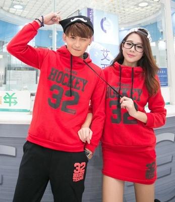 Jual Jumper Hockey SS Merah Couple Online Murah di Jakarta Trendy