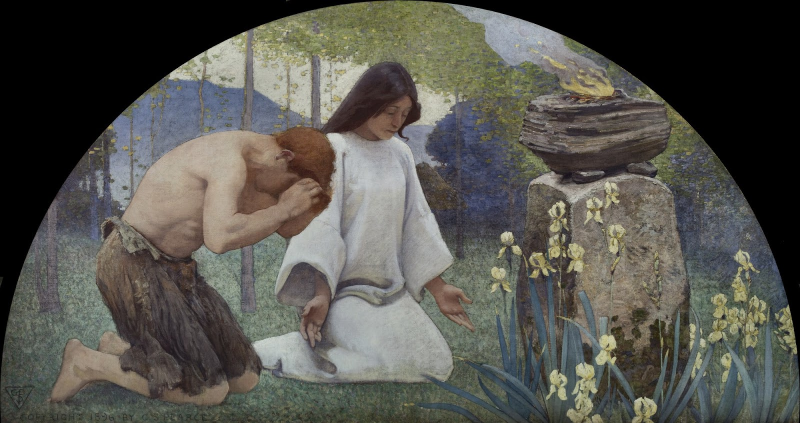 Charles  Sprague  Pearce  mural  library  of  congress  washington  religion