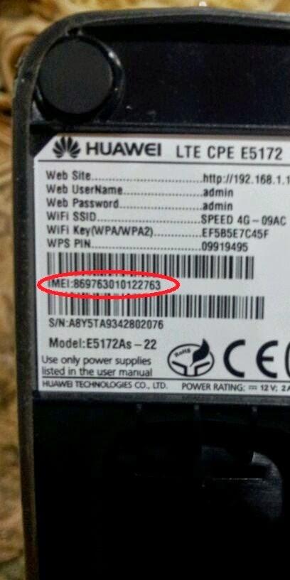 HUWEI E5172 IMEI