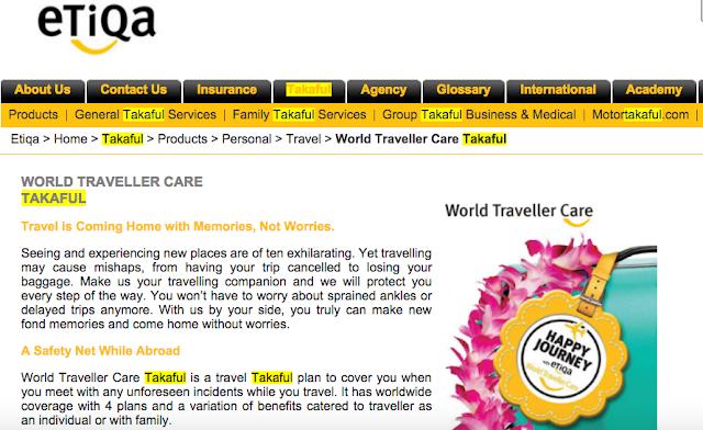 Takaful, Etiqa, Etiqa Travel Takaful