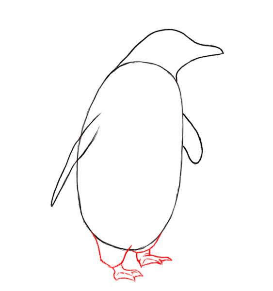 Penguins drawing - photo#12