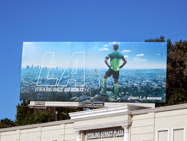 Its a big race Go run it Asics LA Marathon billboard