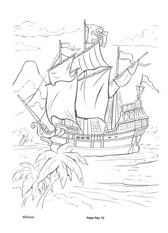 a desenhar capitão gancho colorir