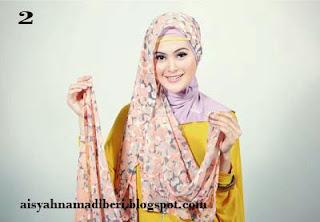Cara Memakai Jilbab Kreasi Jilbab Pashmina Shifon Moderen Terbaru