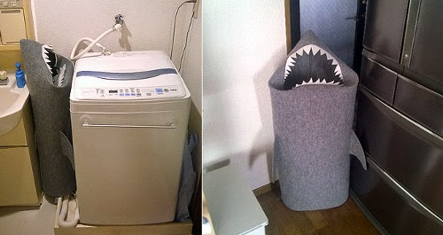 Shark Felt Laundry Basket