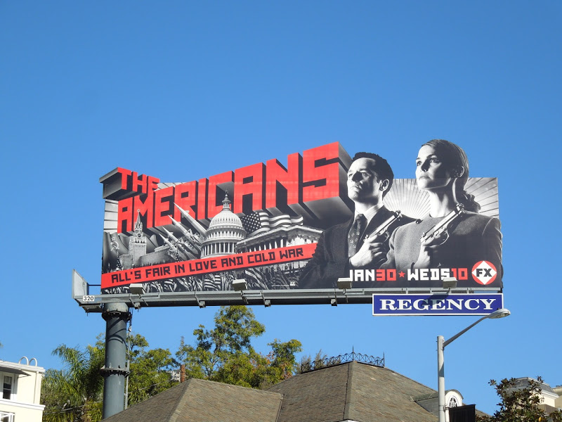 Americans TV show billboard