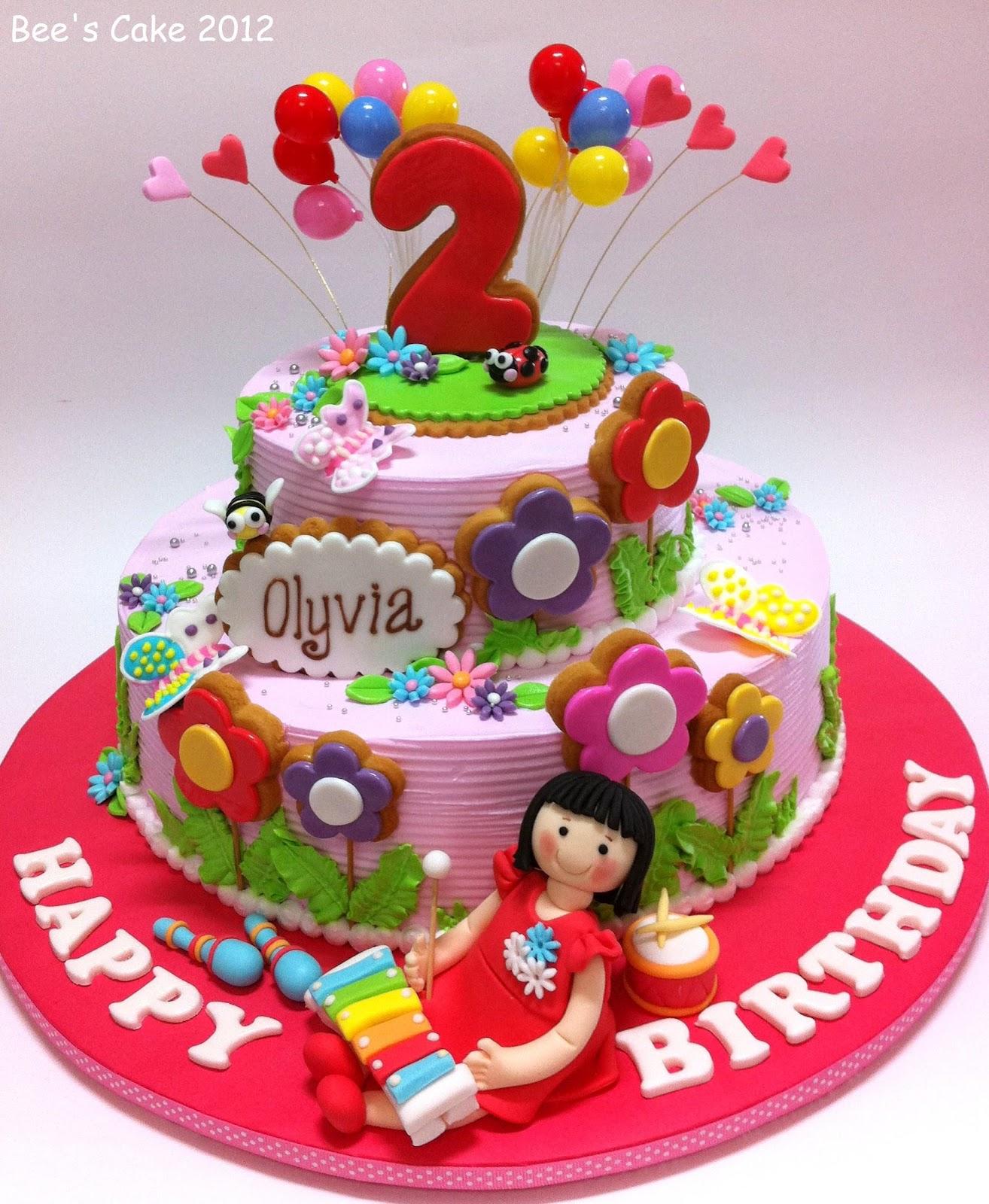 2nd Birthday Cake Designs For Baby Girl : Bee s Cake: Olyvia s 2nd Birthday