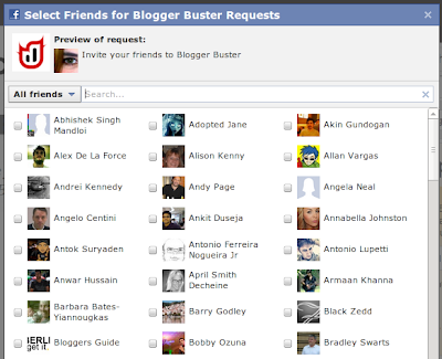 Facebook Select Friends