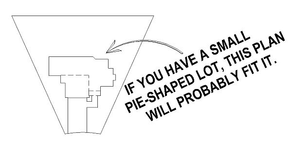 Pie Shaped Lot House Plans