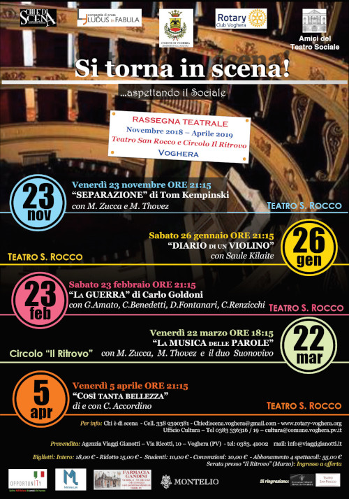 STAGIONE TEATRALE 2018/2019