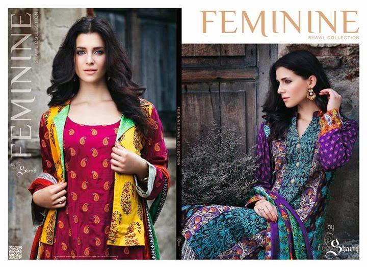 Shariq Feminine Shawls 2014