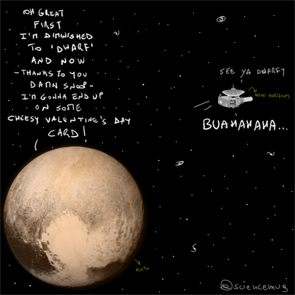 Pluto&New Horizons_by sciencemug