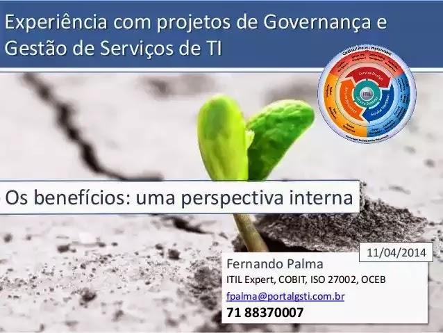 Capa da Apresentação: Por Fernando Palma, 11/04/2014