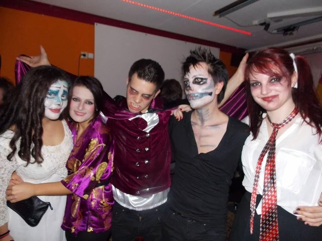 Skankiest Halloween Costumes in their scary costumes