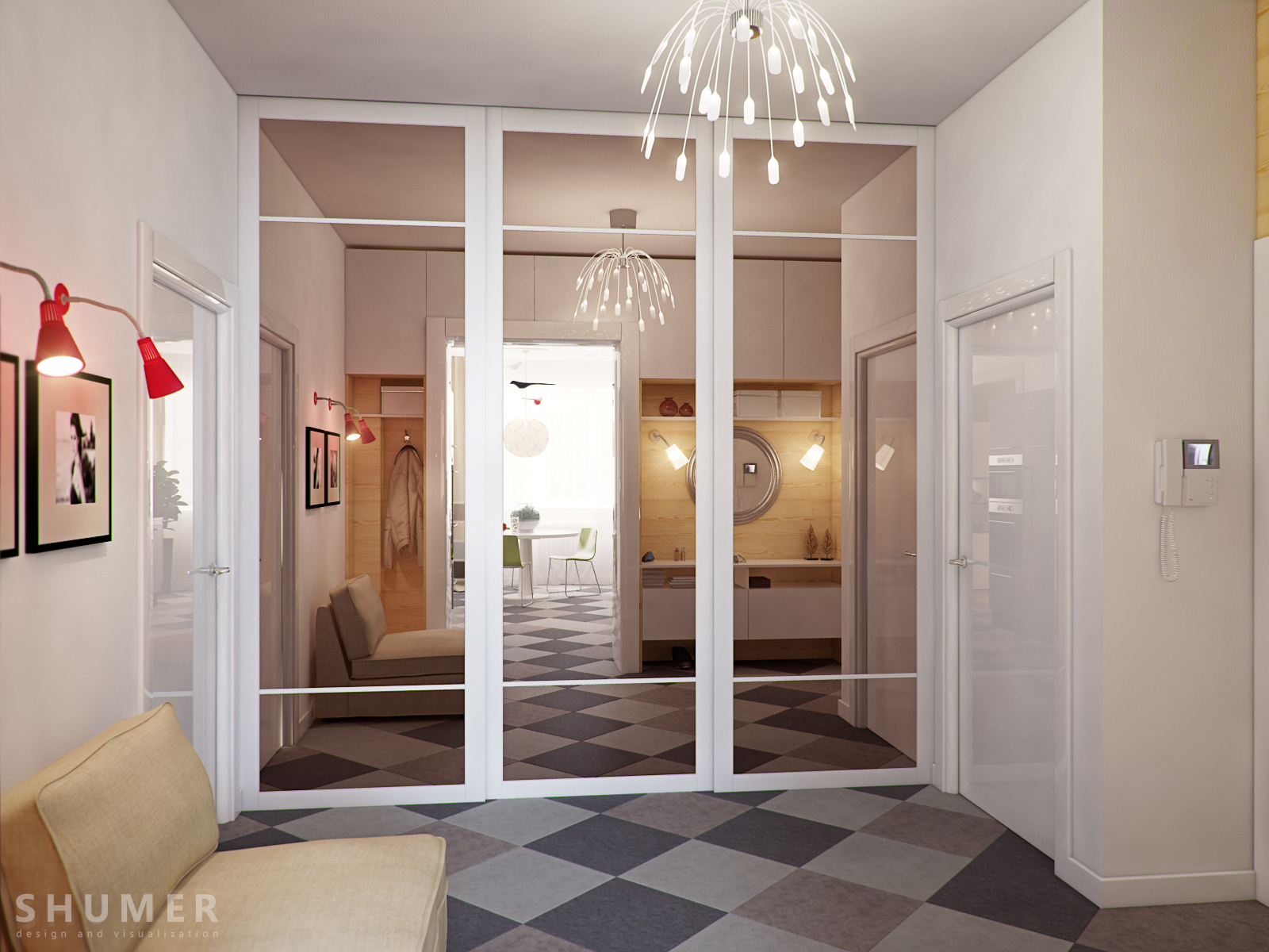 Фото дизайна прямого коридора
