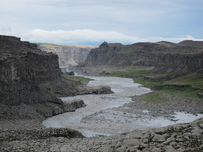 Canyon around Dettifoss, Iceland