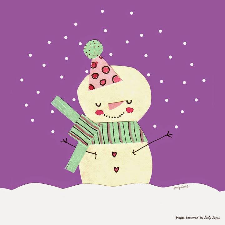 Magical Snowman by Lady Lucas #25DaysofSnowmen