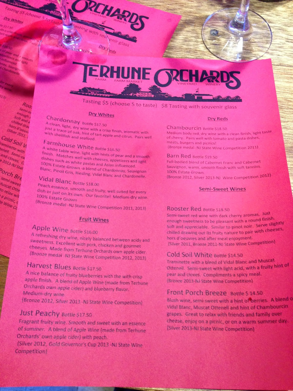 New Jersey Wine Trail - Tehune Farms winery