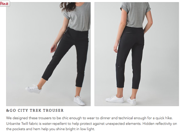 lululemon &Go City Trek Trouser
