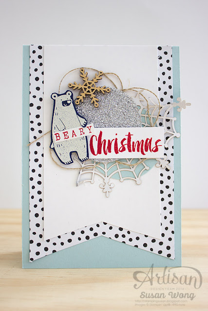 Thankful Forest Friends 'Beary' Christmas Card ~ Susan Wong