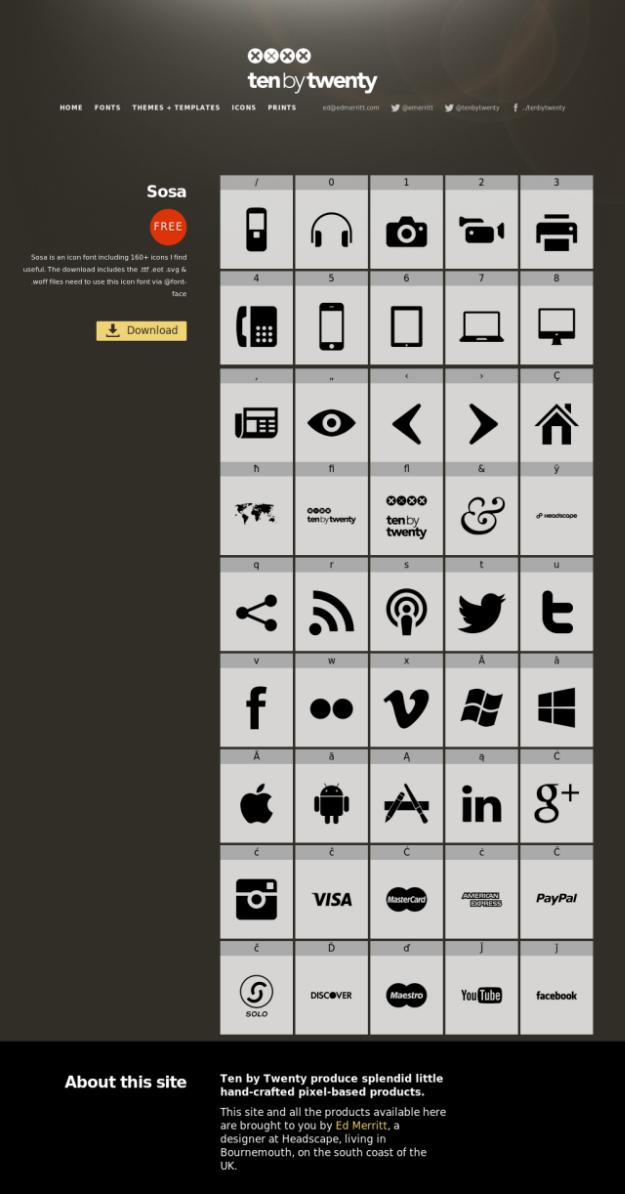 20 Free Web Icon Fonts