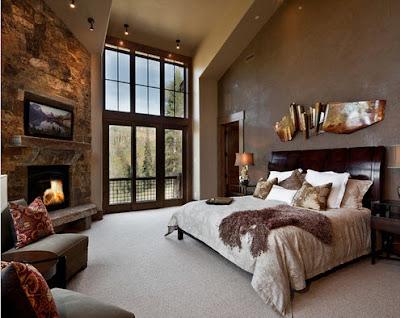 Diseño y decoración de habitación  rústica