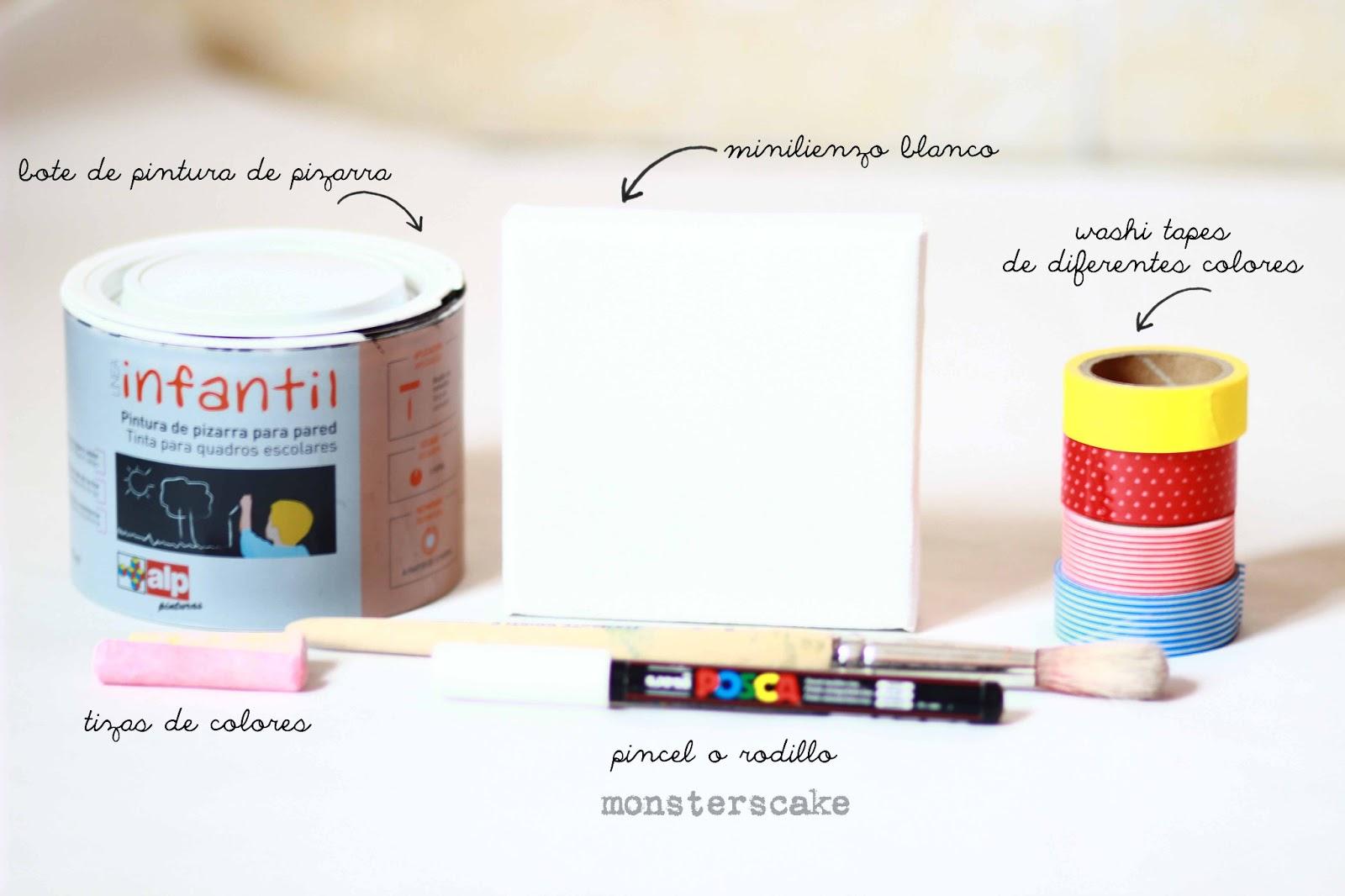 Monsters cake tutorial mini lienzos - Lienzos para decorar ...