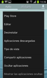 Touchwiz Nature UX - Opciones