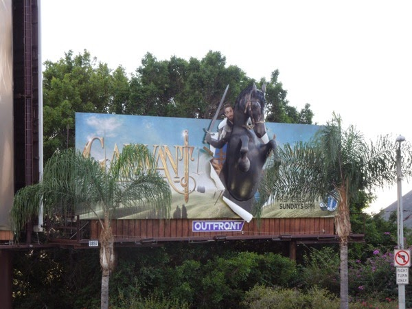 Galavant 3D horse billboard Sunset Strip