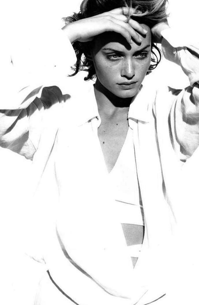 Amber Valletta in Jil Sander Spring/Summer 1994 campaign