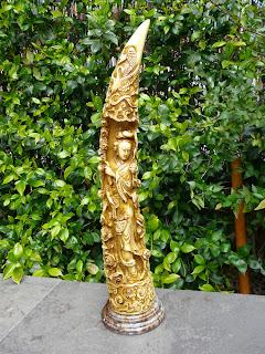 Cuerno de Asta de Toro o Buey Esculpido