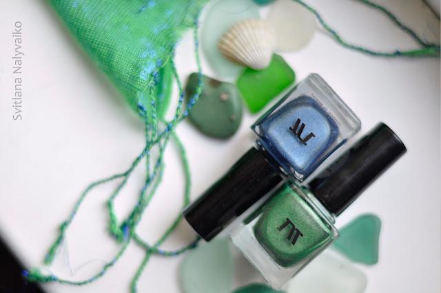 магнитные лаки для ногтей драгоценные камни Masura Совершенный изумруд и Лазурит счастья