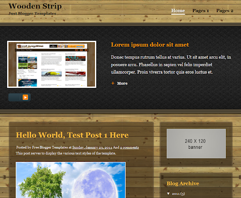 Wooden Strip Blogger Theme