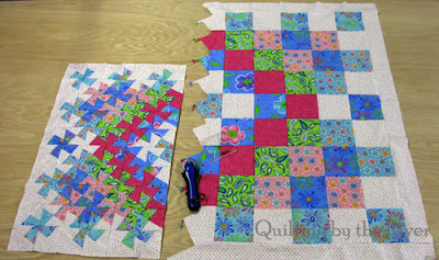 showing how much smaller your quilt gets