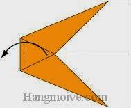 Bước 5: Gấp góc giấy sang trái.