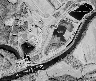 Duke Energy, Eden, North Carolina: Dan River site map.