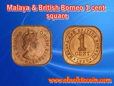 1 Cent Malaya British Borneo Queen Elizabeth II Coin