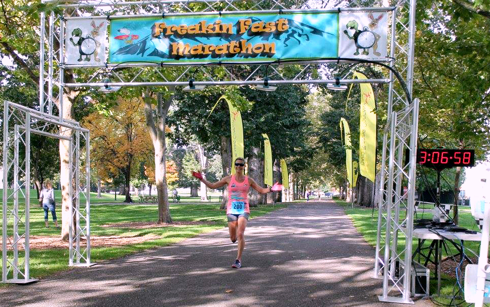 Freakin Fast Marathon, Fastest Marathon in the World, Marathon in Boise, Downhill Marathon, Boise Runner, 1st Place Overall Female
