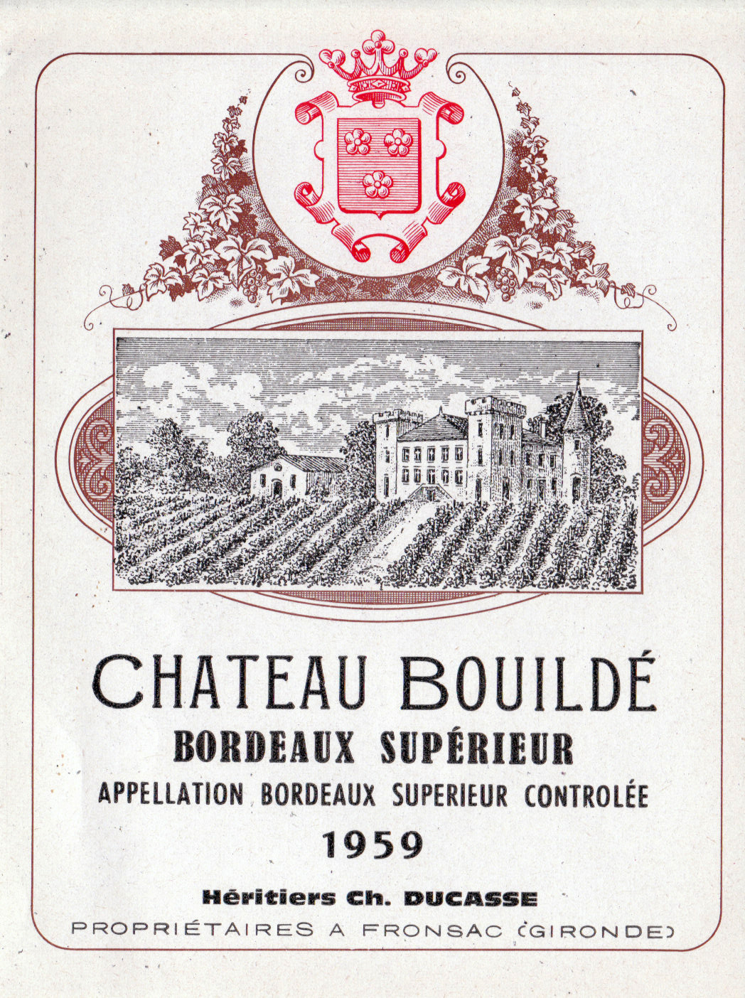 Wine Label  Vintage Bordeaux Region Wine LabelsVintage French Wine Labels