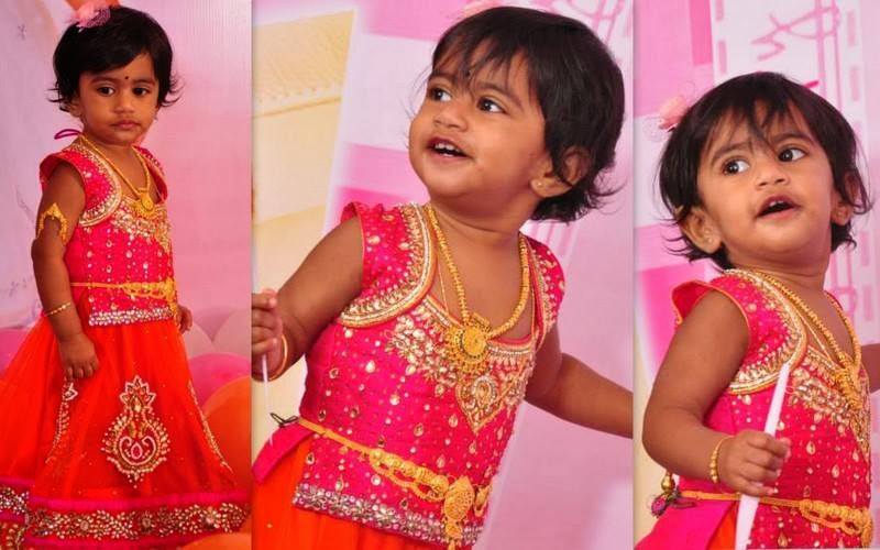 Cute Kid in Birthday Lehenga