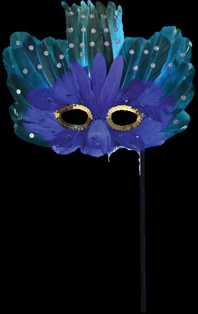 Máscara Carnaval PNG - Misteriósa Blue 2