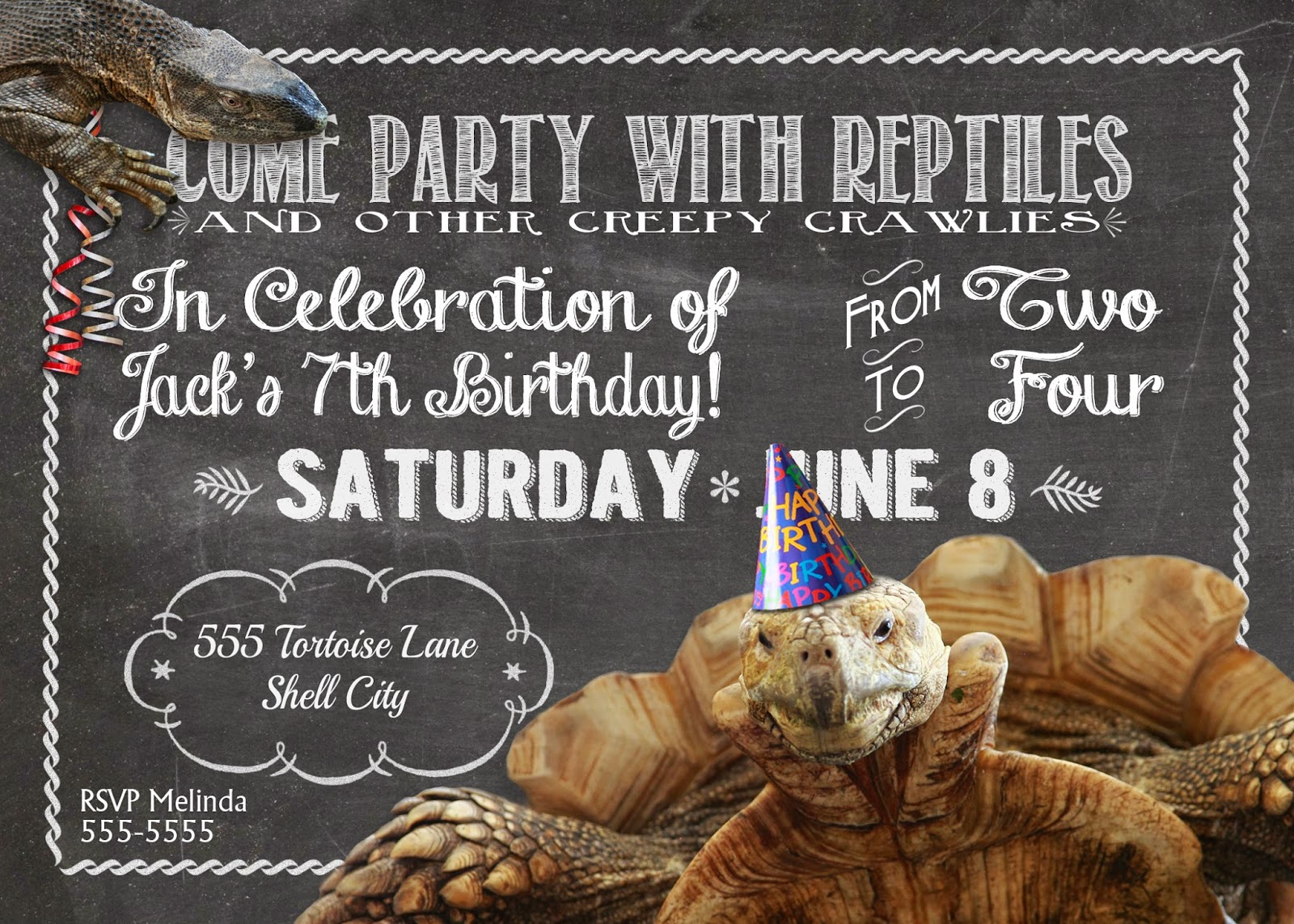 Melinda bryant photography a reptile birthday party i love these im so embarrassed about the ones i sent out for that party last minute mom threw something together at well the last minute filmwisefo